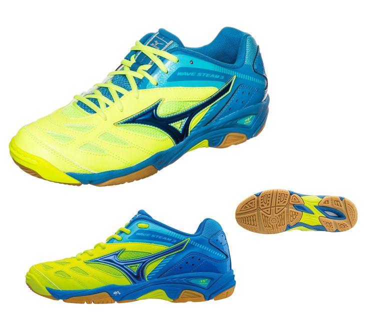 Mizuno Wave Steam 3 unisex kézilabda cipő lime zöld,kék. Ár érték aránya tökéletes. Hosszú tartósság. Kiváló tapadás terempályán és extrém tompítás teszi könnyebbé a gyors irányváltásokat. Azoknak való, akik könnyed teremcipőt keresnek kiemelkedő technológiákkal. Jellemzői: Wave Plate technology,Air Mesh,Dynamotion Groove. Ideális cipő squash játékhoz is.  Tel: +36 1-323-0319 / Mobil: +36 30-635-5979 Fontos : Ellenőrizze cipőméretét cm-ben Mizuno ferfi cipő mérettáblázat alapján.