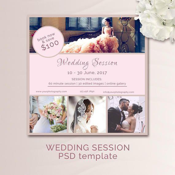 Wedding Mini Session Template / Marketing Board / Photography