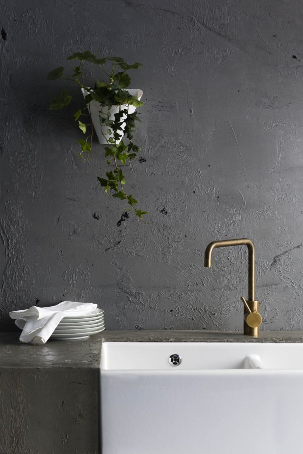 A69.08.V2 Icon Sink Mixer English Brass by Astra Walker