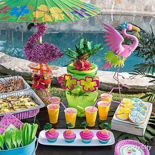 Flamingo summer pool party ideas cumplea os piscina for Ideas para cumpleanos en piscina