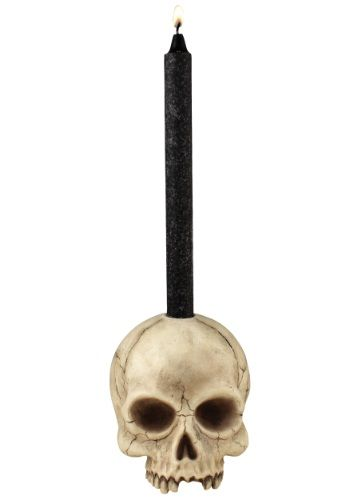 Skull Candle Holder. Halloween Pirate's Nightmare in the Caribbean Party Decorations & Ideas
