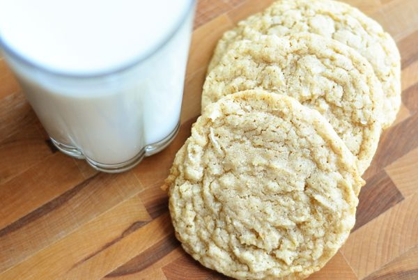 Chewy oatmeal coconut cookies!