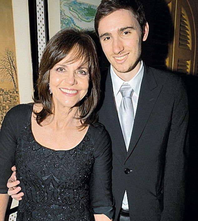 Sally Field and her youngest son, Sam.