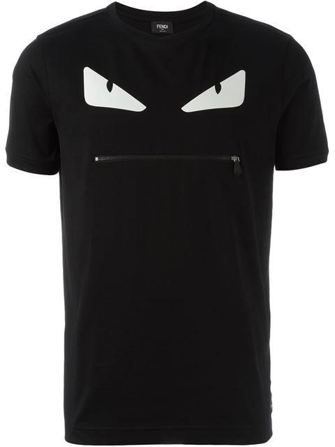Fendi Bag Bugs zip T-shirt
