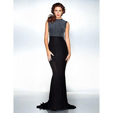 Free Measurements ! Trumpet/Mermaid Jewel Floor-length Jersey Evening Dress inspired by Emma Watson – GBP £ 122.47