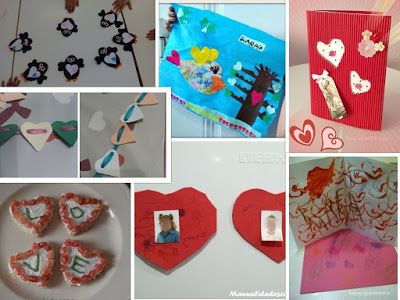 Manualidades con mis hijas: Retoinfantil de corazones para San Valentin