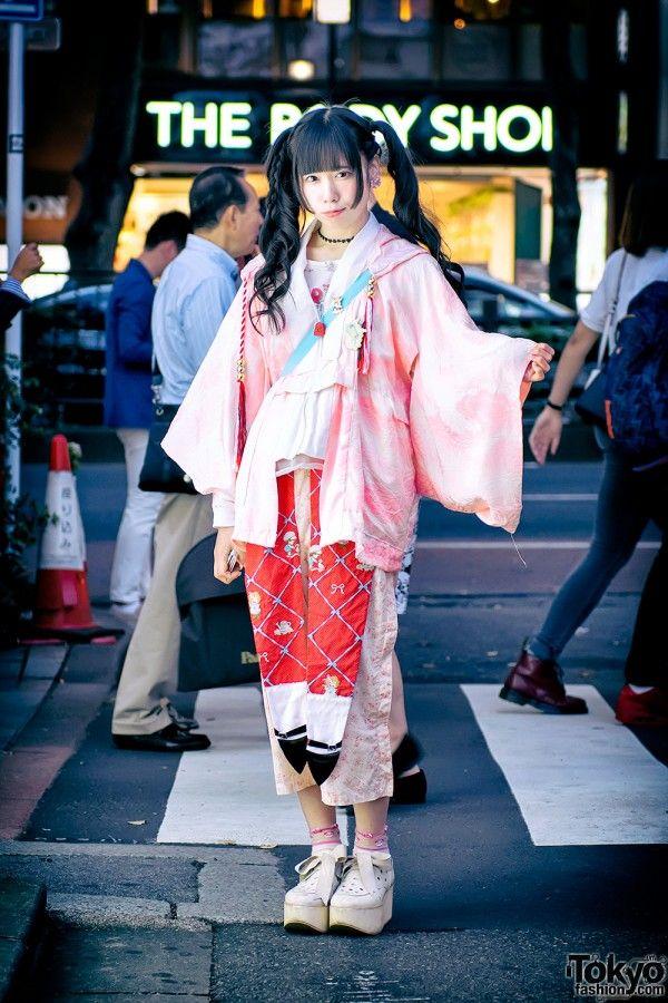 Hayatochiri Kimono in Harajuku