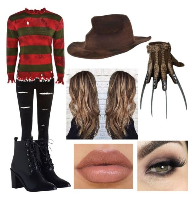 """Freddy Krueger Costume"" by emiily-13j ❤ liked on Polyvore featuring Freddy, River Island and Zimmermann"