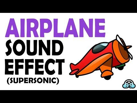 Airplane Sound Effect (Supersonic) - YouTube #sounds