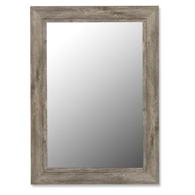 August Grove Antique Weathered Grey / Grey Liner Framed Wall Mirror & Reviews | Wayfair 44 x 56 $715