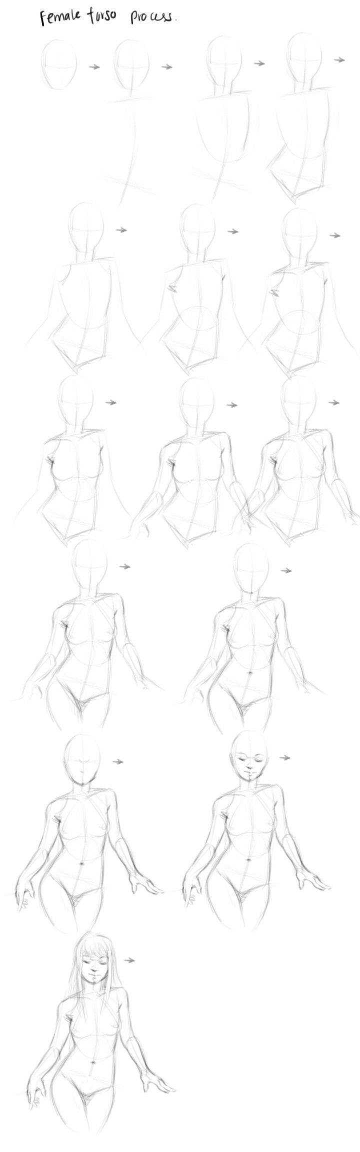 how to draw a woman