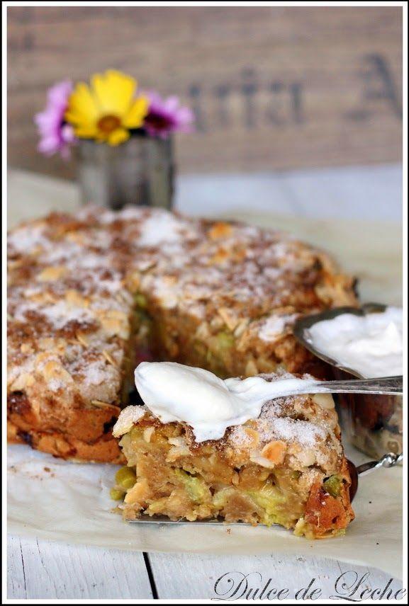 Dulce de Leche: Rebarborový koláč z kyslej smotany