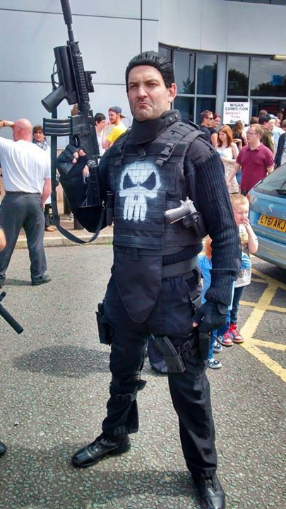 A cosplay based on the Punisher movie 'Punisher Warzone ...