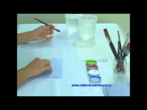 ▶ Técnica Flotado - Nivel Básico Pintura Country Taller Acuarela - YouTube
