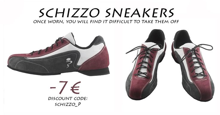 """Schizzo Sneakers in special offer until 30 April 2016!! Italian Tango Shoes is pleased to offer a 7 € voucher discount for the purchase of Schizzo sneakers! Insert the code """"SCHIZZO_P"""" in the voucher's box during a purchase. http://www.italiantangoshoes.com/shop/en/11-sneakers"""