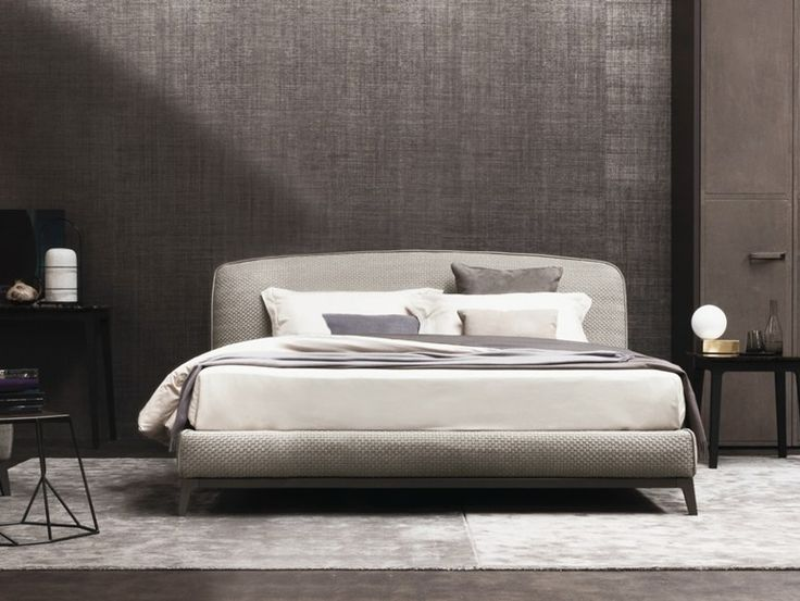 Etonnant Double Bed With Upholstered Headboard Olivier Fabric Bed Flou