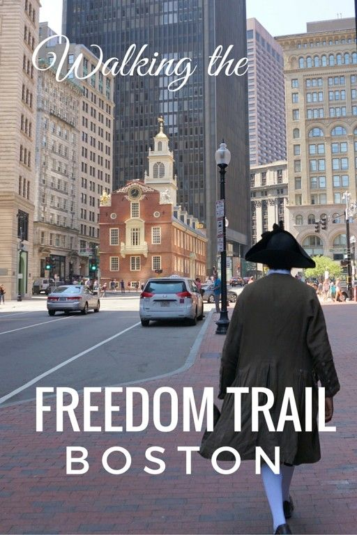 Walking the Freedom Trail in Boston. A journey down the road of American history.