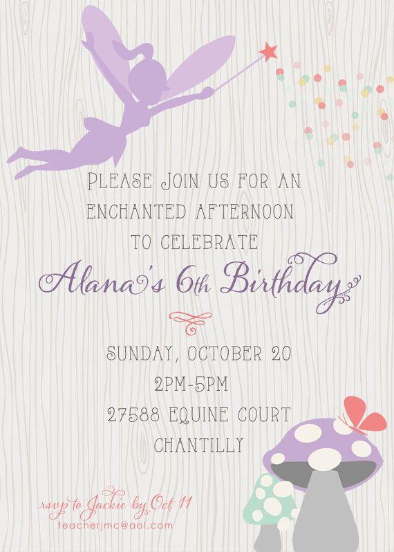 Best 25 Fairy invitations ideas – Fairy Birthday Party Invitation Wording
