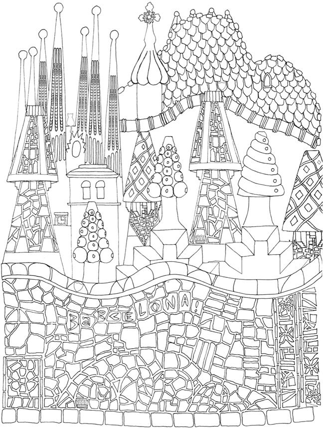 Creative Haven CityScapes Coloring Sheets