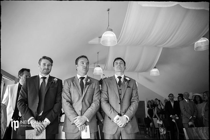 Weddings at Wasing Park Estate Berkshire groom Jamie and his groomsmen awaiting the bride looking nervous #wasingpark #weddings