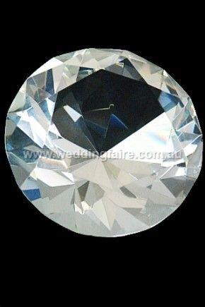 80mm Crystal Diamond - Clear - The Wedding Faire