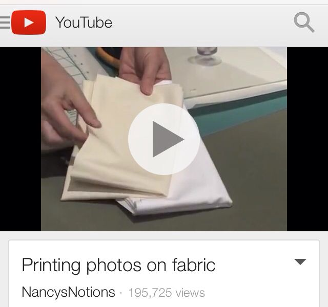 Printing Photos on Fabric