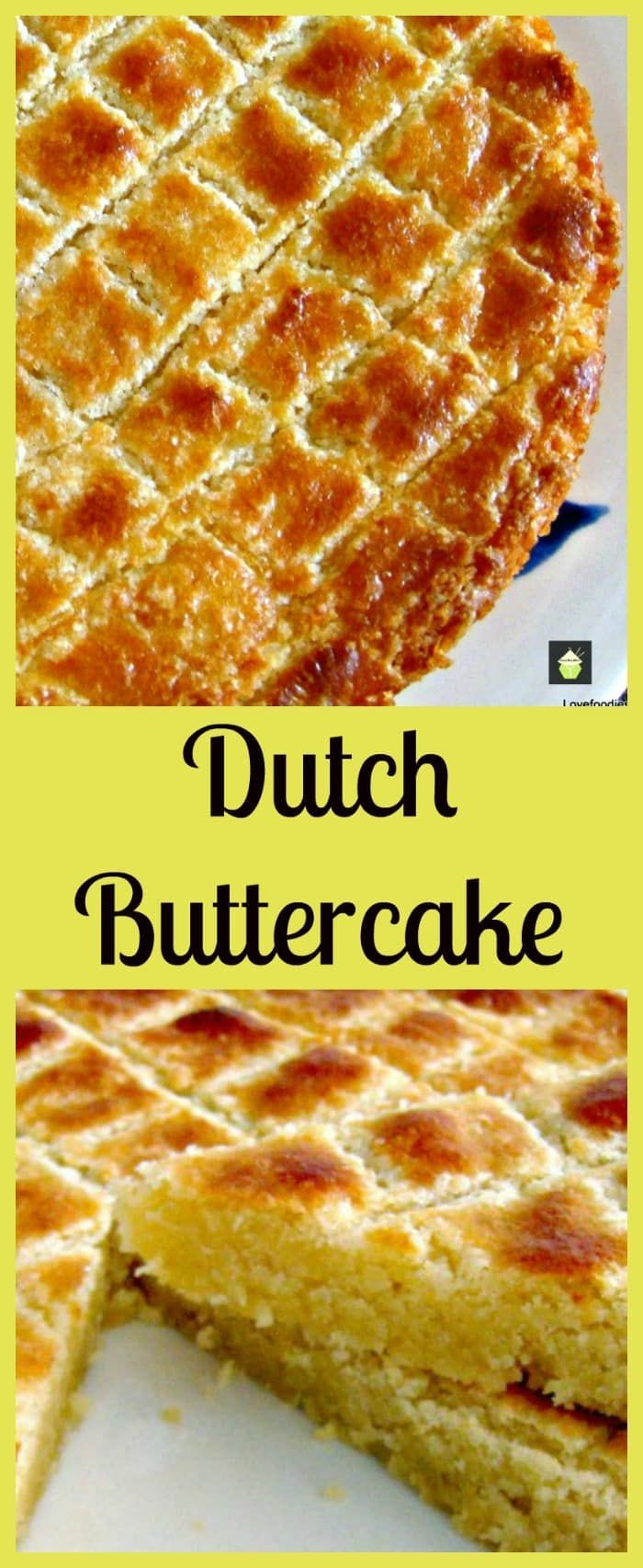 Dutch Buttercake (Boterkoek) . This is a moist, soft butter cake, famous in the Netherlands. Often served with a cup of coffee. Easy to make and very popular! via @lovefoodies