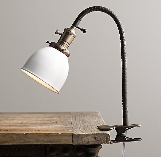 Industrial Era Task Clip Lamp - Cream In 2019