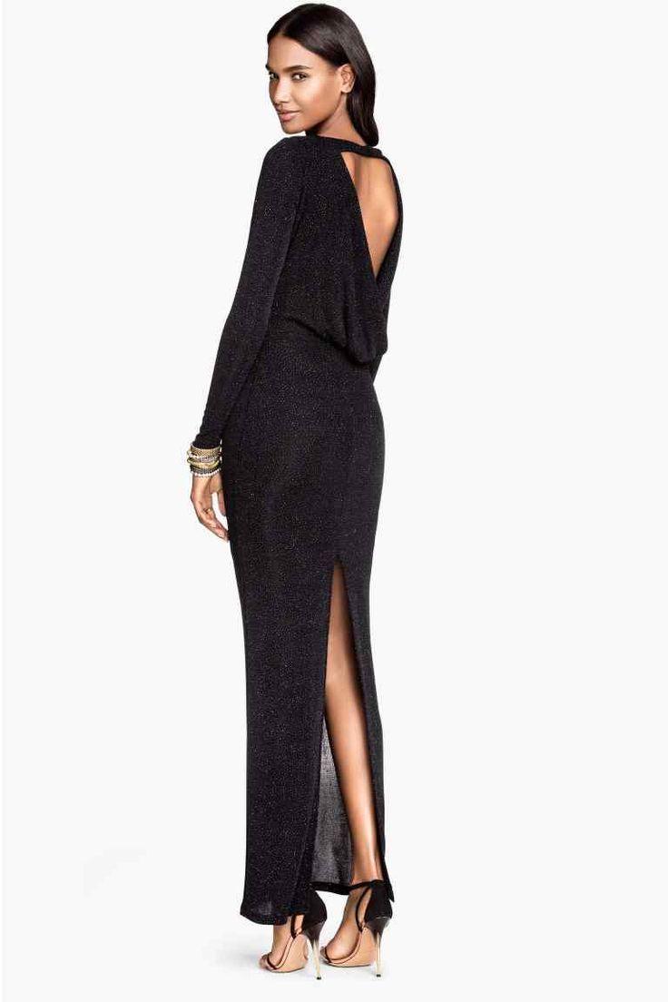 Vestido largo brillante | H&M