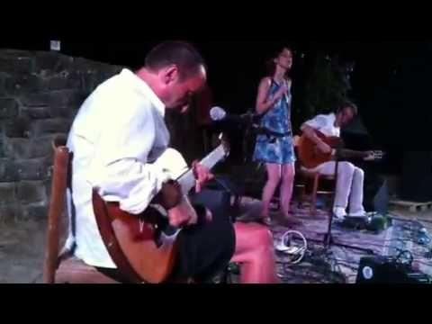 Grande improvvisata di Natalie con Fausto Mesolella e Andrea Castelfranato all'Estasimusicando 2012