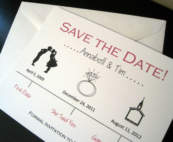 too cute, like this idea for a save the date