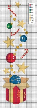 noël - christmas - cadeau - point de croix - cross stitch - Blog : http://broderiemimie44.canalblog.com/