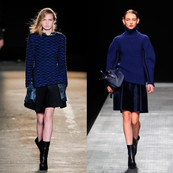 Синие свитера