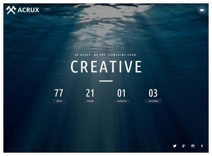 cool mailchimp templates - acrux is premium full responsive html5 comingsoon
