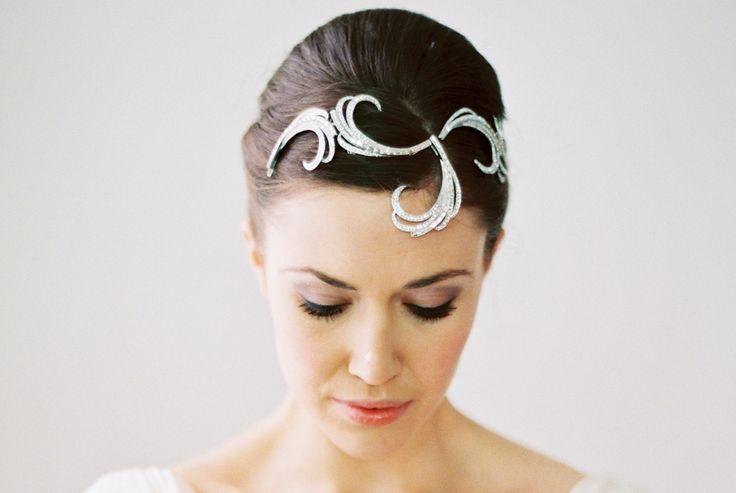 St Tropez headdress, £380.00 #wedding #bridal #accessories #vintage #bride #headwear #jewellery #jewelry www.hopeandgrace.co.uk