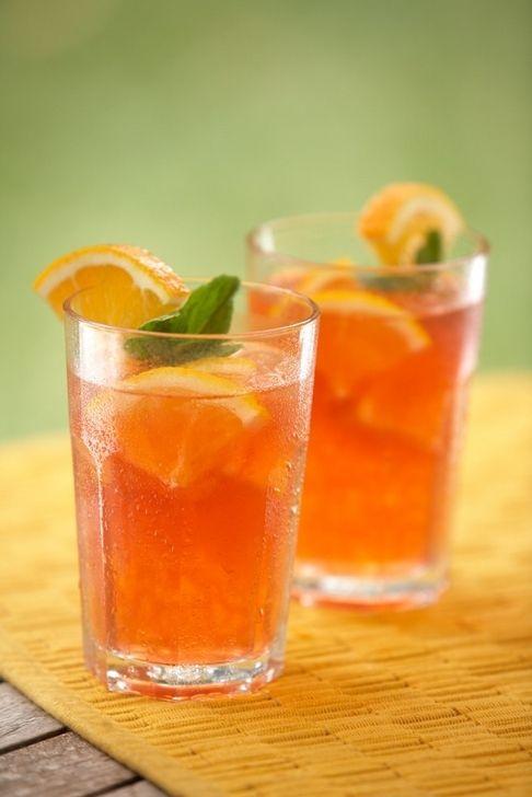 Orange summer Tea using Grey Goose Orange