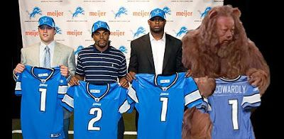 detroit lions funny images | Detroit Lions draft the Cowardly Lion