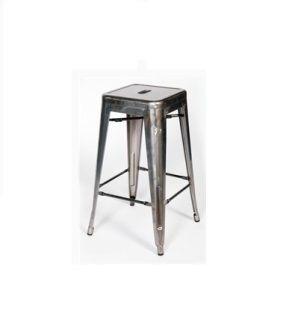 "Steel with Gunmetal Finish  Bar height: 18"" x 18"" x 30""  Bar counter: 18"" x 18"" x 26"""