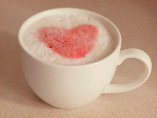 So Cute!: Coffee Cup Cute Heart, Heart Drink, Coffee Heart, Milk, Coffee Cups, Cuppa Hearts, Morning, Pink Hearts