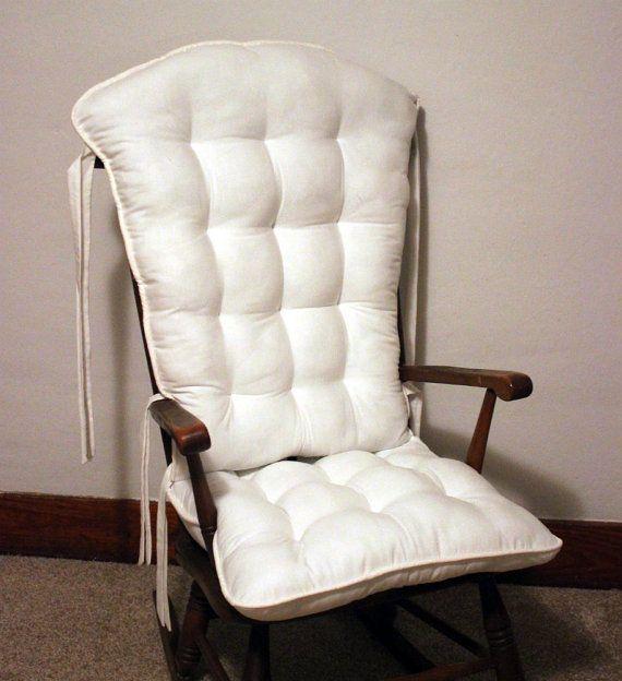 Custom White Rocking Chair Cushions Glider by MayberryandMain