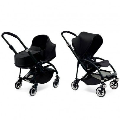 Bugaboo BEE³ Black Frame Complete Pushchair with Five-point harness with adjustable strap height, 6 swivel wheels and 6 rear wheels with durable rubber tires filled with foam, 3 reclining positions, Compact fold for easy storage, Independent suspens http://www.MightGet.com/january-2017-13/bugaboo-bee³-black-frame-complete-pushchair-with.asp