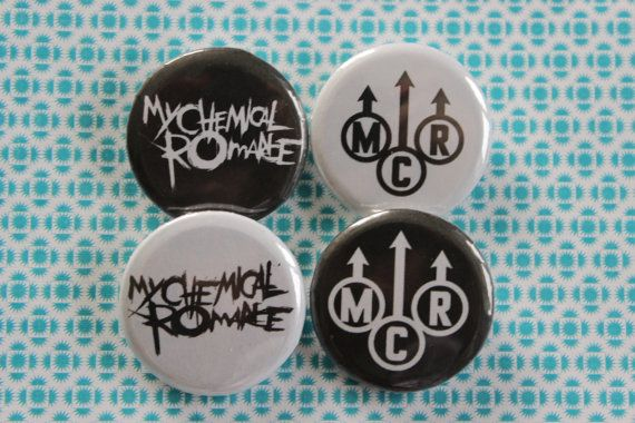 My Chemical Romance Logo Pin Button Badges by MyLittleFandomShop