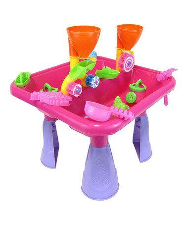 DIY KIDS Pink Sand U0026 Water Table Toy Set