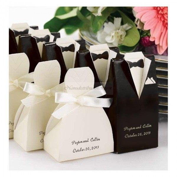 Weddbook Personalized Gown Or Tuxedo Favor Boxes Cute And Unique Wedding Favors Idea I Would Put Candy Something In It