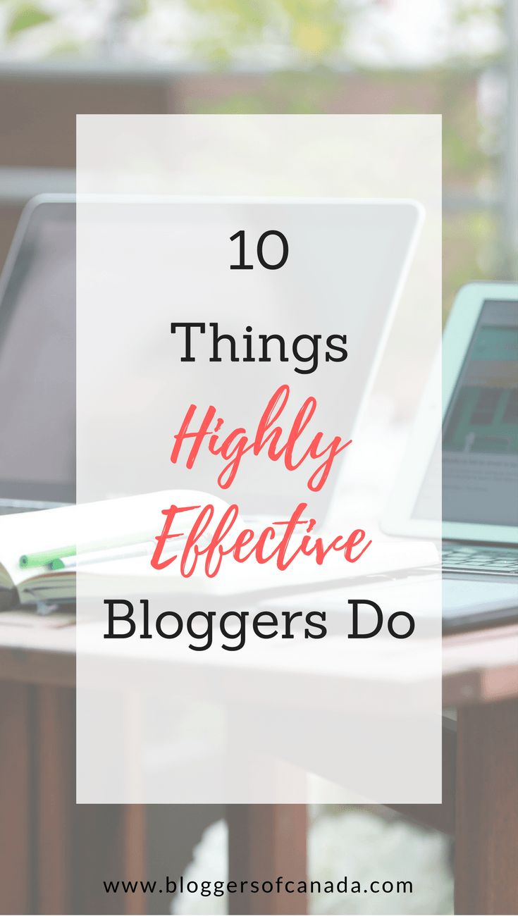 Habits of Effective Bloggers