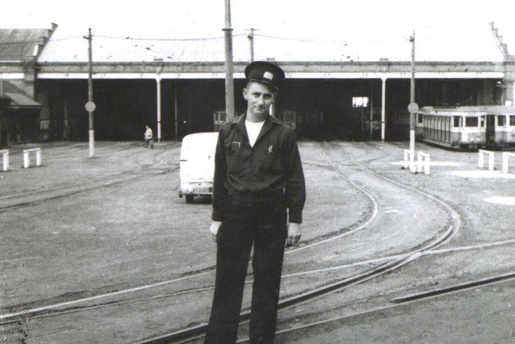 Dowling Street Tram Depot. 1955