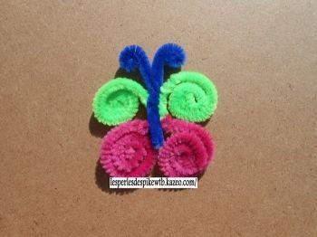 papillon en cure pipe activit s manuelles pinterest activit manuelle enfant activit. Black Bedroom Furniture Sets. Home Design Ideas