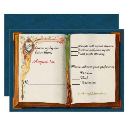 #wedding #responsecards - #Fairytale Wedding Response Card