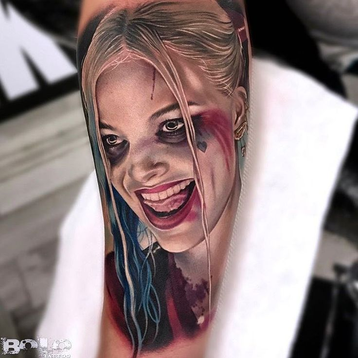 Realistic Harley Quinn Portrait | Best tattoo ideas & designs