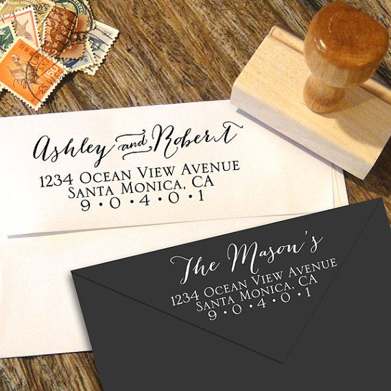 Handwriting Address Stamp for weddings and everyday mailing by Designkandy